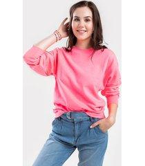 jane classic sweatshirt - neon pink