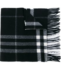burberry the classic check cashmere scarf - black