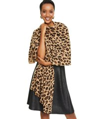 charter club cheetah-print cashmere scarf, created for macy's