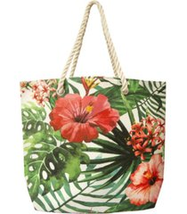 area stars women's floral vine beach tote bag