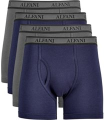 alfatech by alfani men's 4-pk. mesh boxer briefs, created for macy's