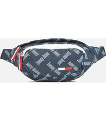 tommy jeans women's cool city nylon bumbag - blue print
