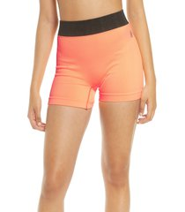 free people fp movement seamless shorts, size medium in peach horizon at nordstrom