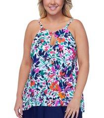 island escape plus size palm beach underwire tankini top, created for macy's women's swimsuit
