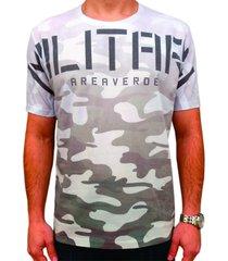 camiseta masculina military estampa frontal - area verde