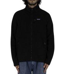 retro pile jacket - black