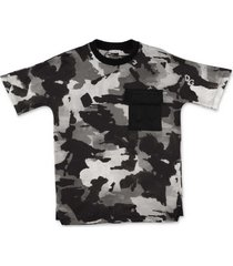 katoenen t-shirt met camouflageprint