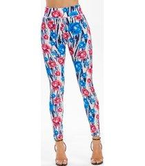 allover flower print skinny leggings