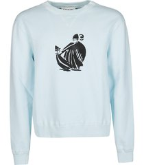 lanvin light blue cotton sweatshirt