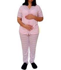 pijama longo linda gestante amamentação com botões do 38 ao 48 pós operatório