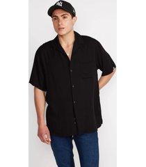 camisa básica manga corta negro sioux