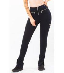 calça ecow legging sugadora zipper