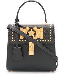 versace icon western tote bag - black