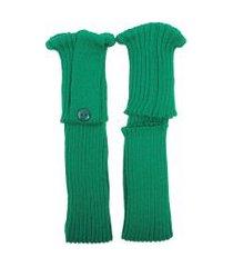 polaina ayron fitness max lã com botão verde