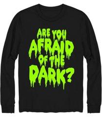 hybrid men's afraid of the dark long sleeve t-shirt