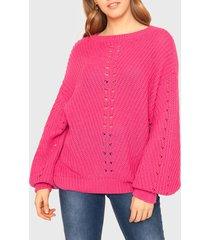 sweater ellus fucsia - calce oversize
