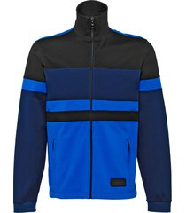 prada piqué jacket - blue