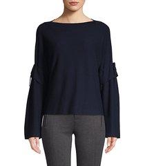 bell-sleeve wool top
