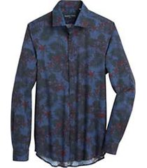 paisley & gray slim fit sport shirt navy & red fern and floral