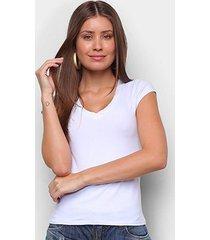 blusa lecimar cotton gola retilínea feminina - feminino