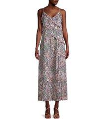 rebecca minkoff women's sasha floral midi dress - size xxs