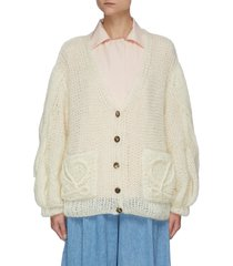 anagram knitted mohair cardigan