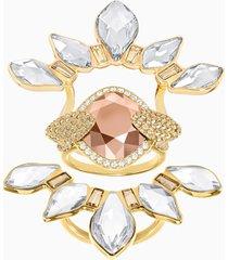 anello con motivo odysseia, multicolore, placcato oro