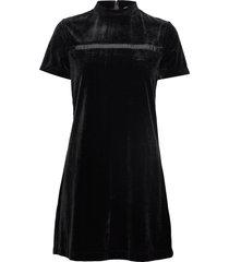 velvet mock neck dress korte jurk zwart calvin klein jeans