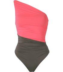brigitte one shoulder swimsuit - pink