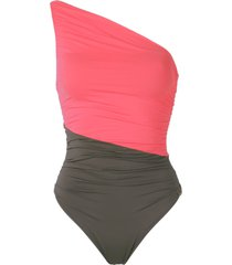 brigitte one shoulder swimsuit - pink