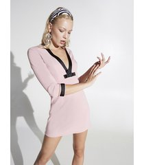 motivi vestito corto a tubino con motivo fiocchi donna rosa