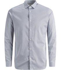 jack & jones pemium heren overhemd kaarsjes print super slim fit