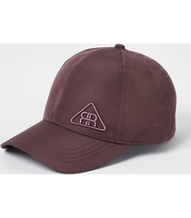 river island mens purple rr triangle logo nylon cap