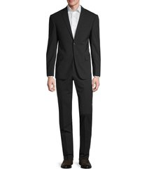 michael kors men's stretch-wool solid-color suit - black - size 46 r