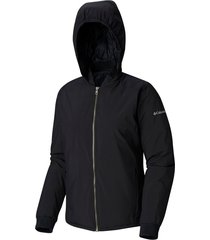 parka hillsdale spring reversible jacket negro columbia