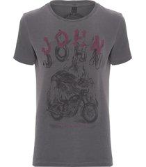 t-shirt masculina eagle biker - cinza