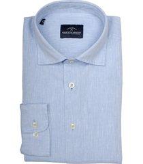 born with appetite linen shirt casual spread 21107li71/210 l.blue