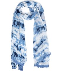 pañuelo estampado azul humana