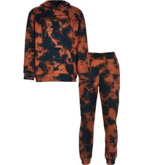 river island boys black bleached tie dye outfit