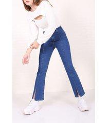 jean azul byh jeans semi oxford