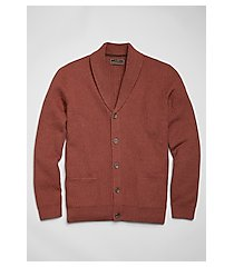 reserve collection cotton & wool cardigan men's sweater - big & tall