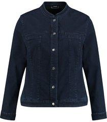 samoon jacket 330006 / 21315 raw blue denim - size 44 / xxl