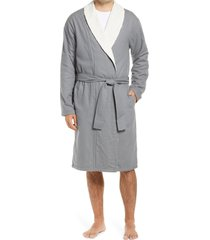 men's ugg kalib robe, size medium/large - grey