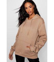 tall oversized effen hoodie, kameel