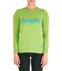 maglione maglia donna girocollo rainbow week sunday