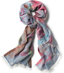 exploded floral jacquard scarf