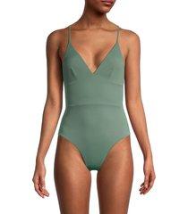 onia women's valentina one-piece swimsuit - army green - size xs