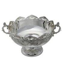 centro de mesa 33x25x17cm royal antique zamac prata
