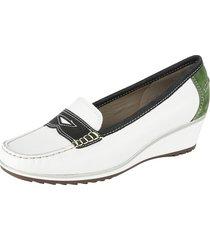 loafers ara vit::blå::grön