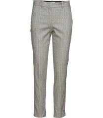 paloma stripe pantalon met rechte pijpen grijs rodebjer